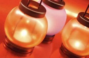 Hjemmelavet glød Lantern