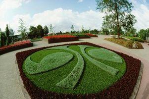 Ideer til en rund beton grænsen for et landskab