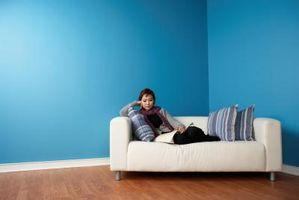 Sådan at betrække en Sofa med faste puder