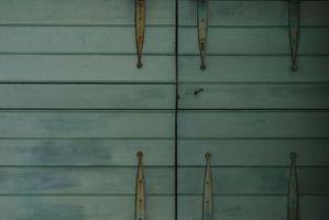 Maleri Over gamle malede fyrretræsbrædder på vægge