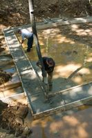 Kælder dræn Tile Installation