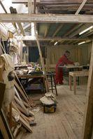 En DIY tømmer Storage Bin for Woodshop