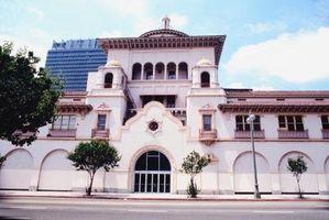 Rød flise stil spansk arkitektur