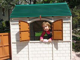 Udsmykning ideer til en Cubby hus