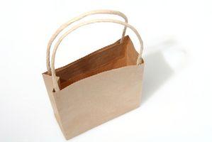 DIY Faux finish bruge brunt papirposer