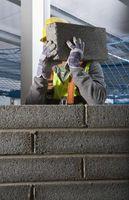 Hvor meget Sand der kræves at lægge betonblokke?
