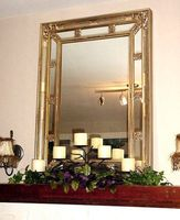 Hvordan man kan dekorere en Mantel med et spejl