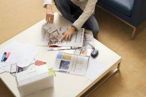 Hvordan man kan dekorere et træ bord med magasin-sider