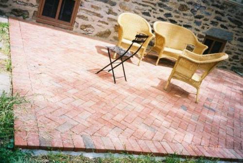 Gør det selv mursten brolægger gårdhave