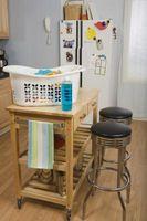 Kan jeg dække en læder køkken stol med stof?