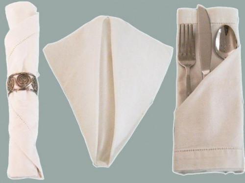 Andet bord serviet folder