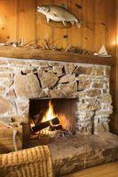 Hvor stor en sten Hearth bør for en træ-brændende Indsæt?