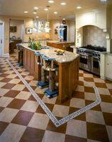 Hvordan til at rense rillerne i Linoleum gulve