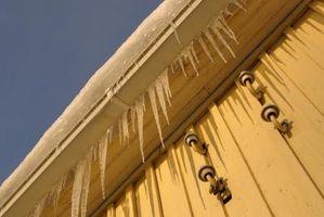 Årsagerne til istapper uden for dit hjem