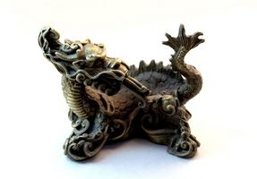 Onde Dragon badeværelse dekorationer