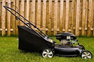 Hvordan indstiller jeg en inaktiv skrue på en græsslåmaskine?