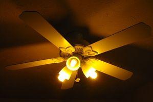 Hvordan man kan stoppe et loft Fan lys fra slingrende