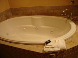 Sådan installeres en have badekar