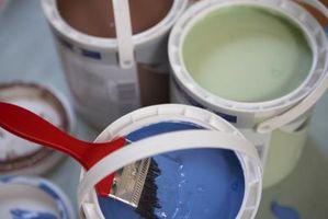 Brun & blå væg maling ideer