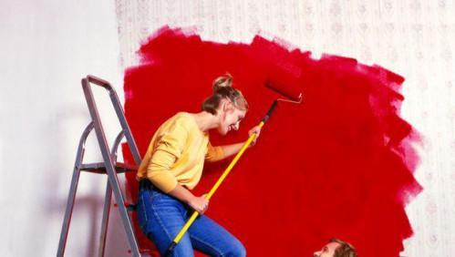 Udsmykning i rød