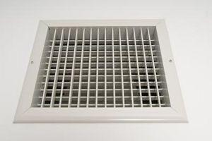 Energieffektive HVAC gulv registre
