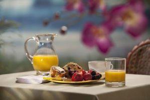 Vindue behandlinger for en morgenmad krog
