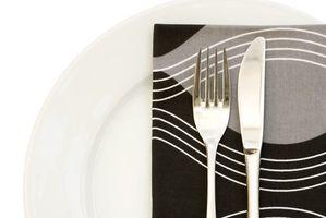Stilarter af tabel servietter