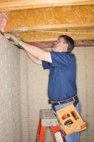 Hvilken slags glasfiber isolering bruger du isolerer en kælder loft?