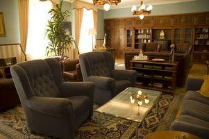 Udsmykning idéer til at adskille en Home Office fra den levende område