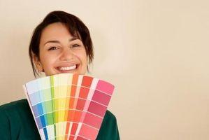 Ideer til maleri med farven på en stofprøven