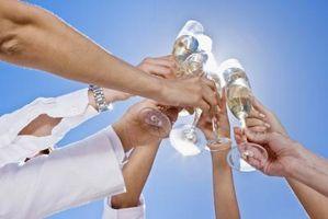 Ideer til ved hjælp af plast Champagne glas
