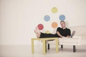 Hvordan man kan dekorere et stort rum med prikker