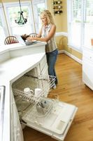 GE QuietPower 1 opvaskemaskine sidder fast på den tunge vask