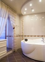 Ideer til badeværelse flise gulv farver & Designs