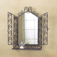 Hvordan til at hænge smedejern væg spejle