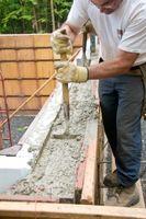 Grund for at udfylde blokke med beton