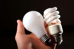Hvad gasser er i fluorescerende pærer?