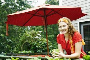 Sådan åbnes en gårdhave paraply