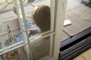 Sådan fjerner glidende terrassedøre