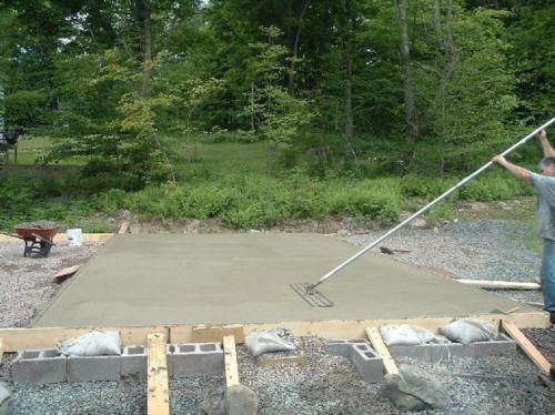 Hvordan til at hælde en Cement Pad