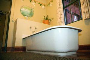 Varm badeværelse farver