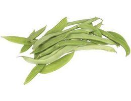 Gule blade på smør Bean planter