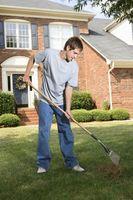 Hvad er vertikalskæreren tages i brug en græsplæne?