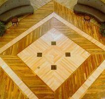 Forskellige hårdttræ gulv mønstre