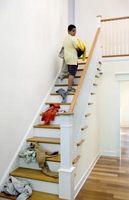 Kan jeg bruge malet krydsfiner til trappe Risers?