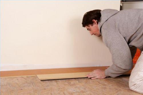 Sådan installeres laminat gulve
