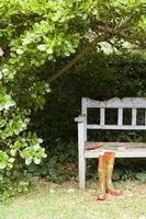Hjemmelavet udendørs siddepladser