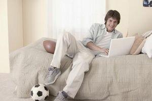 Hvordan man kan dekorere en dreng Teenager værelse i en Sports tema